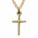 14K Gold Filled Baby Cross Necklace in a Stick Design