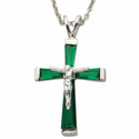 """Sterling Silver May Crucifix on 18"""" chain"""