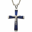 """Sterling Silver SeptemberCrucifix on 18"""" chain"""