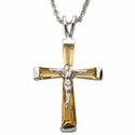 """Sterling Silver November Crucifix on 18"""" chain"""
