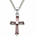 Amethyst and Aqua Crosses