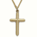14K Gold Over Sterling Silver Cross Necklaces