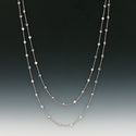 "48"" Sterling Silver Necklace Crystal Diamond-Like CZ Stones By theYard"