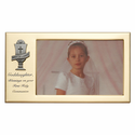 """8"""" x 4 1/2"""" Granddaughter's First Holy Communion Metal Photo Frame with Chalice"""