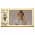 """8"""" x 4 1/2"""" First Holy Communion Metal Photo Frame with Chalice"""