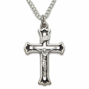 Sterling Silver Crucifix Necklaces