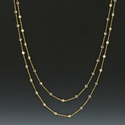 "36"" 24K Gold/Sterling Silver Gold Chain Necklace w/ Diamond-Like CZ Stones by the Yard"