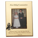 """5"""" x 7"""" First Holy Communion Gold Plated Metal Photo Frame with Chalice"""