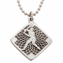 """Lead Free Pewter Baseball Dog Tag on 22"""" Stainless Steel Chain"""