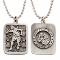 """Lead Free Pewter Basketball Dog Tag on 22"""" Stainless Steel Chain"""