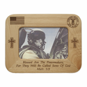 "8"" x 6"" U.S. Air Force Laser Engraved Maple Wood Photo Frame"