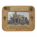 "8"" x  6"" U.S. Army Laser Engraved Maple Wood Photo Frame"