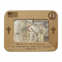"8"" x  6"" National Guard Laser Engraved Maple Wood Photo Frame"