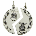 Sterling Silver Air Force Mizpah Medal with Genisis 31:48 on Back