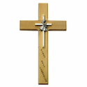 """10"""" Personalized First Communion Girl Maple Wood Cross"""