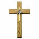 """10"""" Personalized First Communion General Maple Wood Cross"""