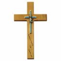 "10"" Personalized Baptism Boy Maple Wood Cross"