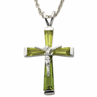 """Sterling Silver AugustCrucifix on 18"""" chain"""