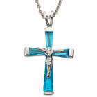 """Sterling Silver December Crucifix on 18"""" chain"""
