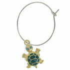 Wine Glass Charms with Turtles, Set of 4