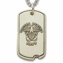 Sterling Silver U.S. Navy Dog Tag with Plain Back For Engraving