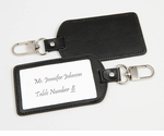 Unique Place Cards Leather Luggage Tags