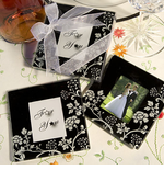 Black and White Theme Favors Photo Coasters