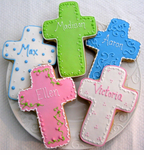 Cross, Angel and Bible Cookies