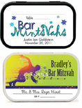 Bar and Bat Mitzvah Place Cards Mint Tins