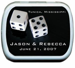 White Dice Party Favor Tins