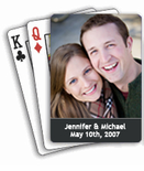 Custom Photo Playing Cards Wedding