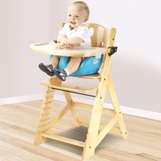 Keekaroo Height Right High Chair With Infant Insert U0026 Tray In Natural And  Aqua