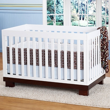 Espresso and White Two Tone Modo 3-in-1 Baby Crib by Babyletto - Click to enlarge