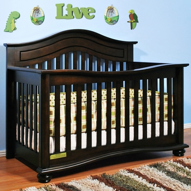 Espresso Jordana 3 in 1 Convertible Crib by AFG - Click to enlarge