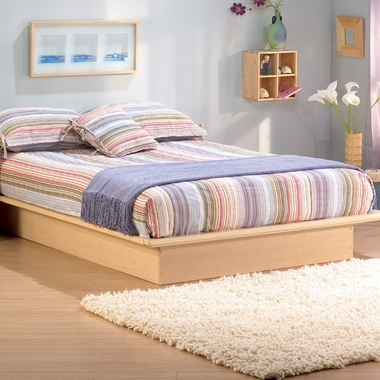 Natural Maple Step One Queen Platform Bed by SouthShore - Click to enlarge