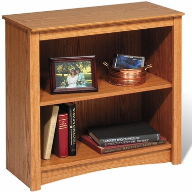 Oak Sonoma 2 Shelf Bookcase by PrePac