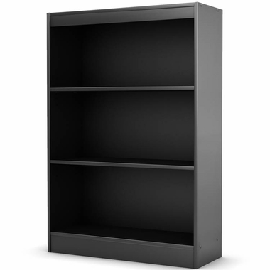 Solid Black Smart Basics Shelf Bookcase by SouthShore - Click to enlarge