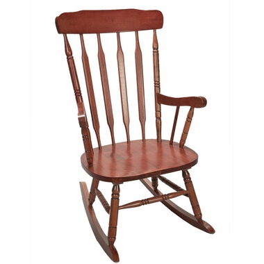 Cherry Deluxe Spindle Rocking Chair by Kids Korner - Click to enlarge