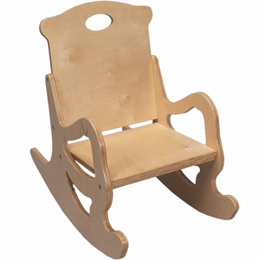 Natural Puzzle Single Seat Rocker by Kids Korner - Click to enlarge