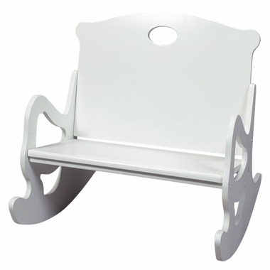 White Two Seat Puzzle Rocker by Kids Korner - Click to enlarge