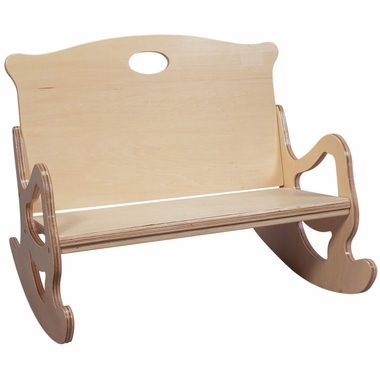 Natural Two Seat Puzzle Rocker by Kids Korner - Click to enlarge