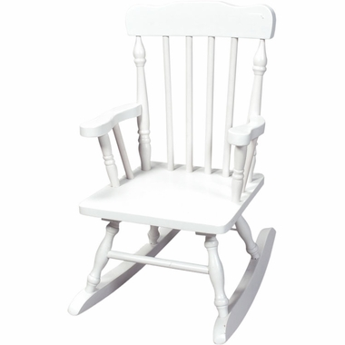 White Child's Spindle Rocking Chair by Kids Korner - Click to enlarge
