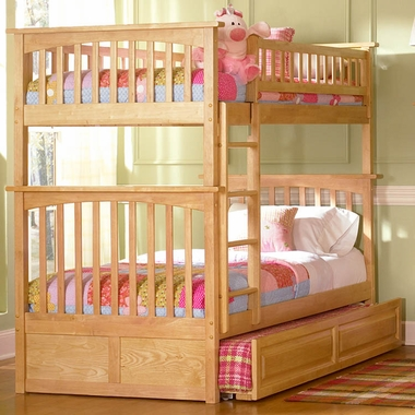 Natural Maple Bunk Bed Set Columbia Twin Over Twin Bunk Bed With