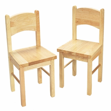 Natural Two Chair Set by Kids Korner - Click to enlarge