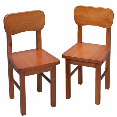 Honey Rounded Back Two Chair Set by Kids Korner - Click to enlarge