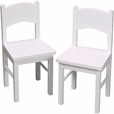 White Two Chair Set by Kids Korner - Click to enlarge