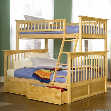 Natural Maple Bunk Bed Set Columbia Twin Over Full Bunk Bed With