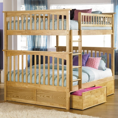 Natural Maple Bunk Bed Set Columbia Full Over Full Bunk Bed With