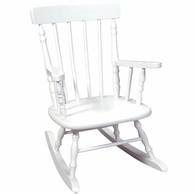White Deluxe Child's Spindle Rocking Chair by Kids Korner - Click to enlarge