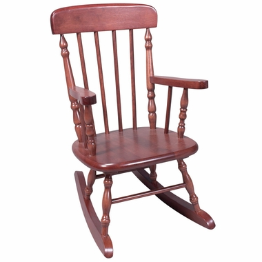 Cherry Deluxe Child's Spindle Rocking Chair by Kids Korner - Click to enlarge
